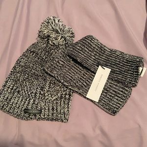 Rebecca minkoff toque and hand warmers